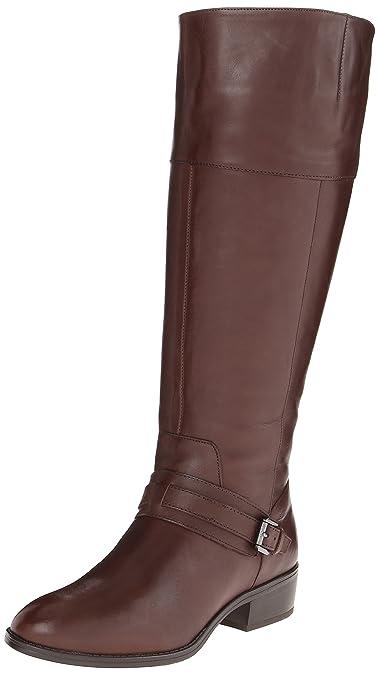 Lauren Ralph Lauren Women's Maritza Wide Calf Riding Boot, Dark Brown, ...