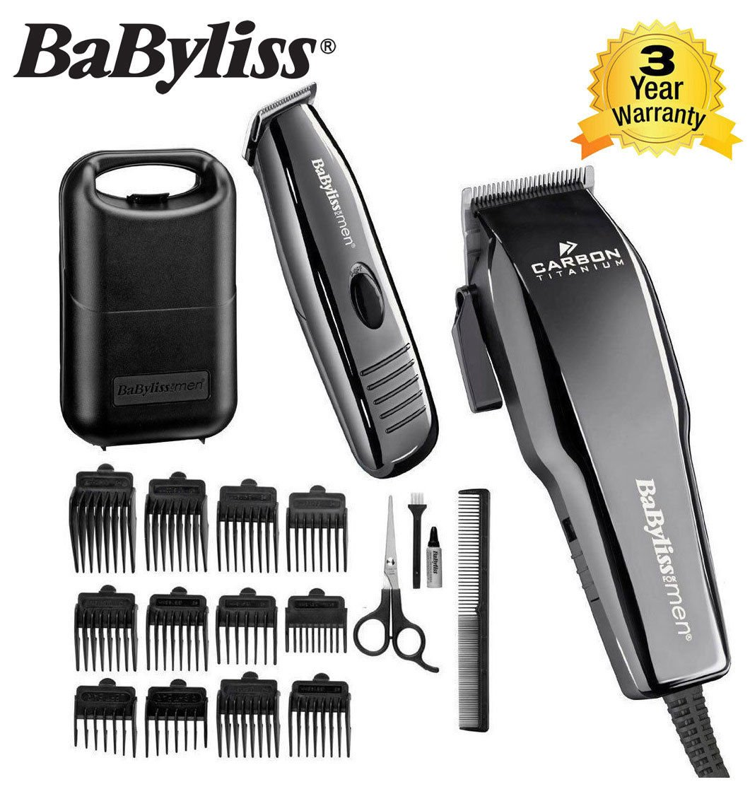 Hair Clipper & Detail Trimmer Set Carbon Titanium from BaByliss