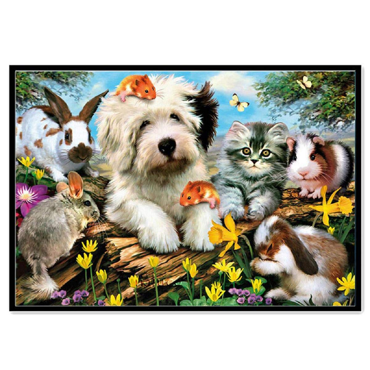 DIY 5D Diamond Painting Dartphew by Number Kits, Crystal Rhinestone Embroidery Pictures Arts Craft for Home Wall Decor - Lovely Dogs Cats Horses Animals - Reduces Eye Strain by Dartphew DIY 5D Diamond Painting (Image #1)