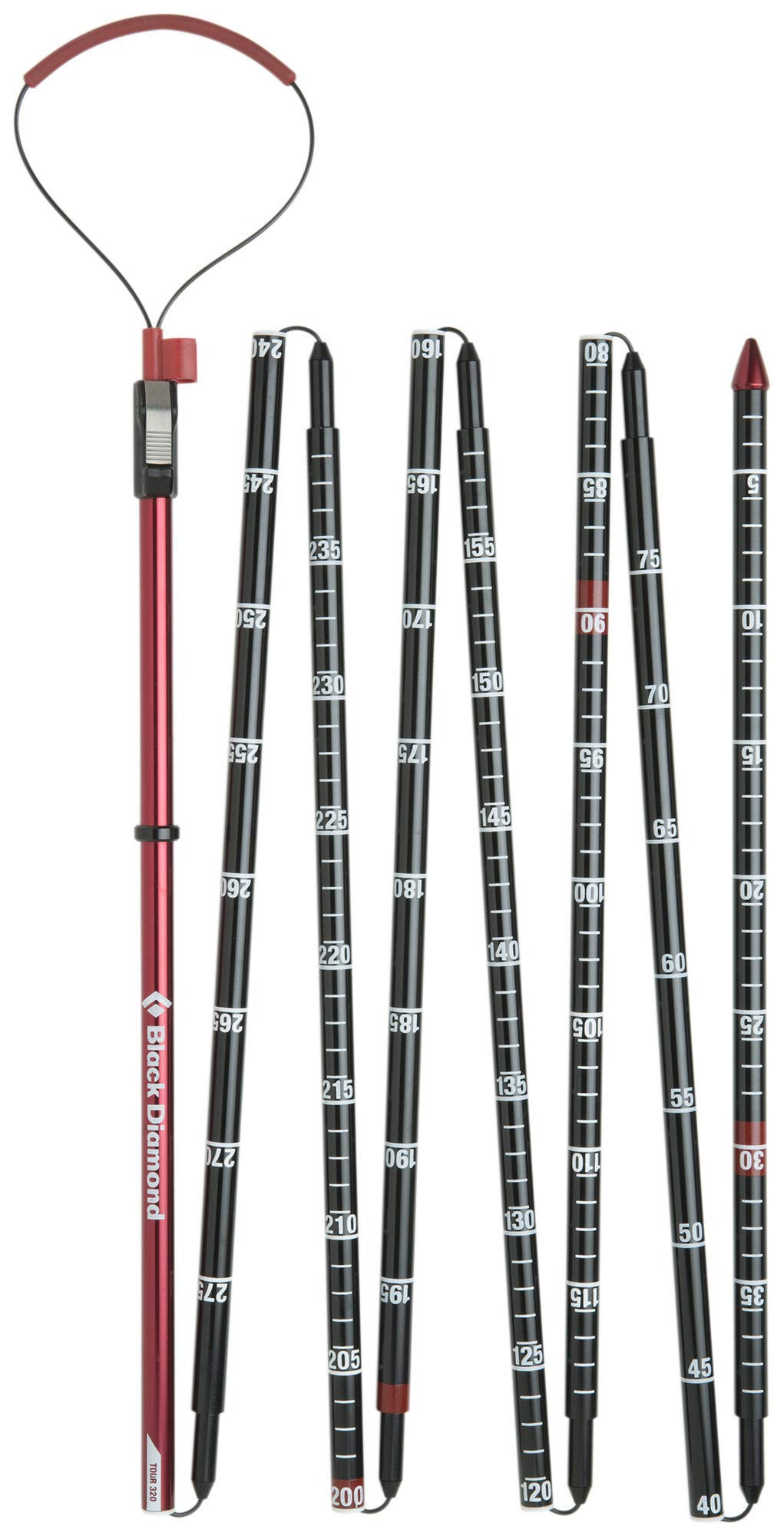 Black Diamond Quickdraw Probe Tour, Fire Red, 320cm by Black Diamond