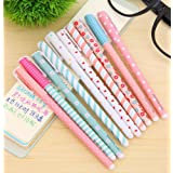 MERSUII 10 Pcs Multi Colors Colorful Gel Ink Pen Cute Korean Cartoon Pin Type Wholesale kawaii stationery 10 pens 10 Colors Set