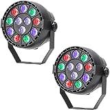 TSSS DMX Par Licht (2 Stücke) Mischfarbe LED RGBW Ton Aktivieren Disco Beleuchtung für Parteierscheinen KTV DJ Hochzeit