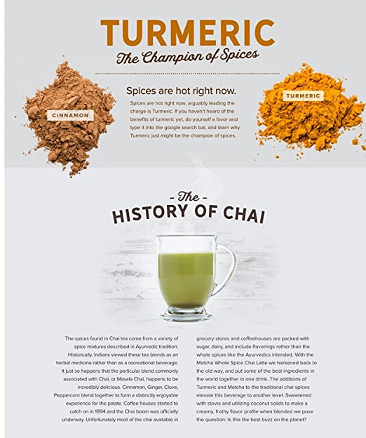 Amazon.com: Onnit Organic Whole-Spice Matcha Chai Latte (240g): Health & Personal Care