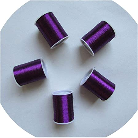 14 tipos de color metal bordado hilo máquina de coser DIY ropa ...