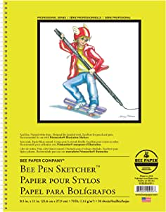 Bee Paper Pen Sketchers Pad, 8-1/2-Inch by 11-Inch