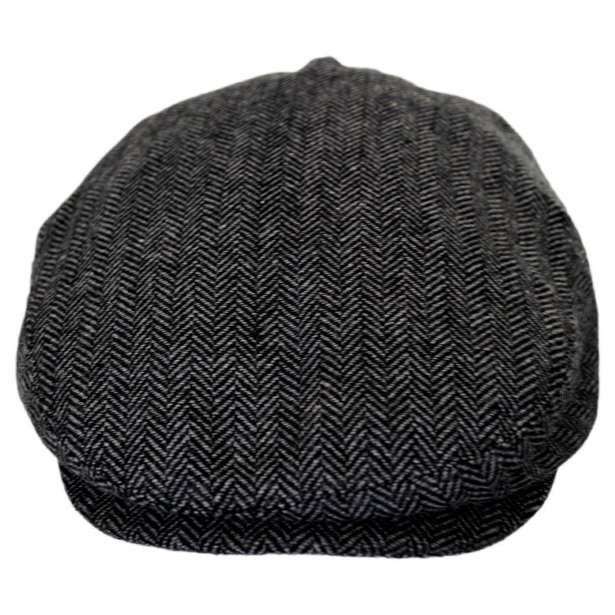 Baskerville Hat Company Dartmoor Herringbone Wool Ivy Cap - Gray Black at  Amazon Men s Clothing store  183c15d25d45