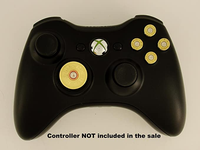 Xbox 360 Controller Replacement Brass Bullet 9mm ABXY Action ...