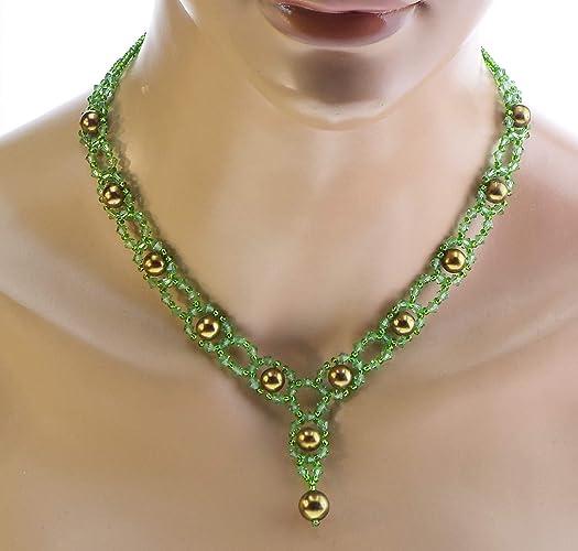 c3fd322d7f97 Collar Lolo - verde - collar de boda - cristal Swarovski - Joyas de boda.