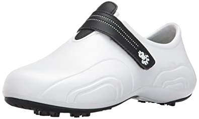Dawgs Women's Ultralite Golf Shoes White with Black 6 M US 3WdImm