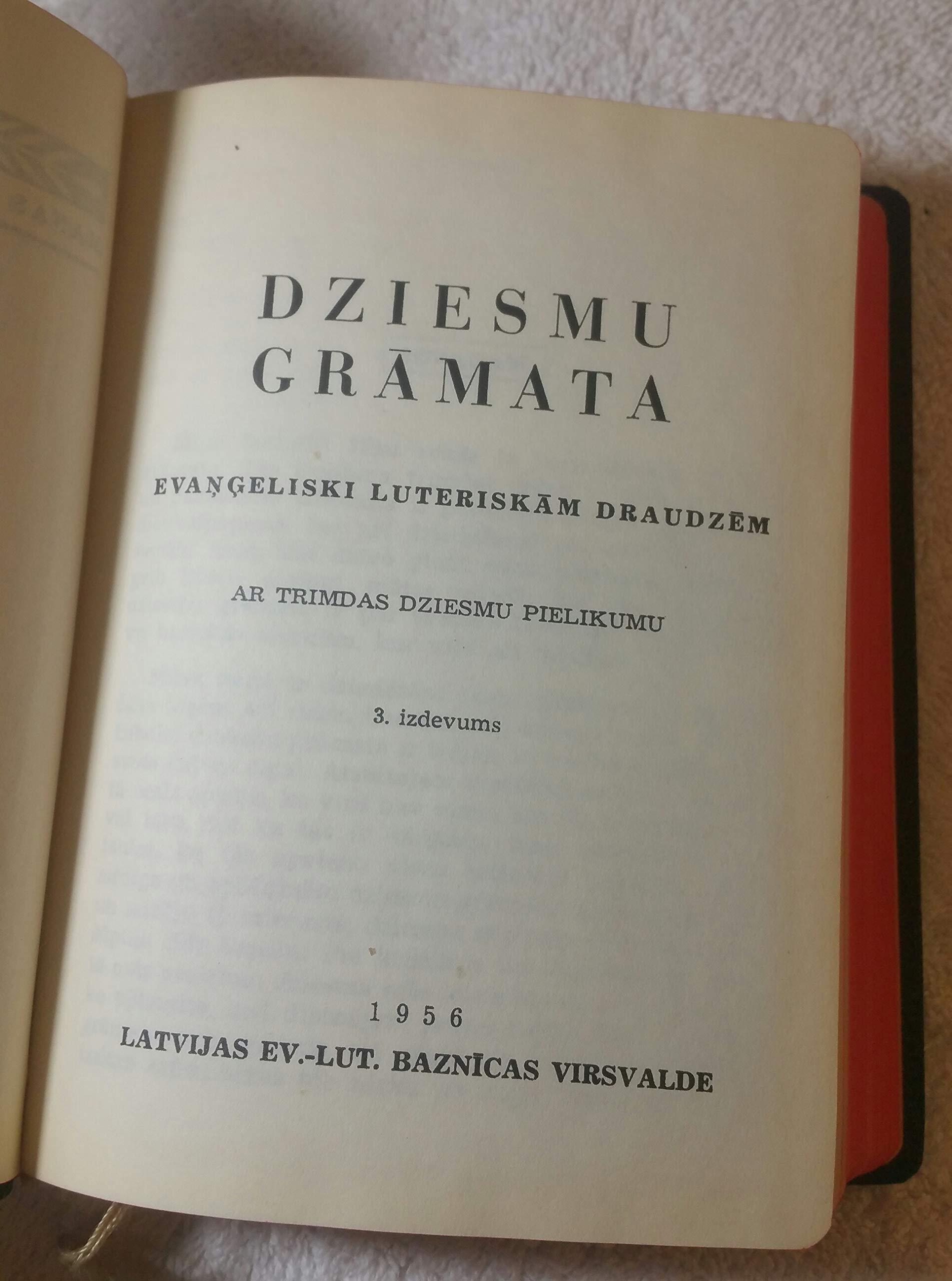 Latvian dziesmu grmata (1992)music for your church services near me