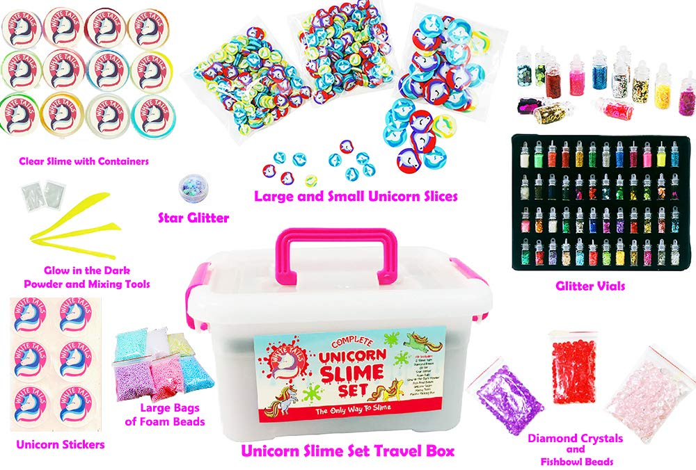 White Tails Unicorn Slime Kit for Girls and Boys 12 Containers of Clear Slime for Kids by White Tails (Image #3)