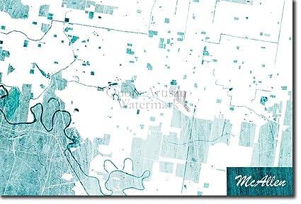 Amazon Com Introspective Chameleon Mcallen Texas Usa Original Map