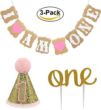 Amazon.com: Decoración para tarta de primer cumpleaños para ...