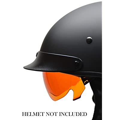 Vega Helmets Unisex-Adult Warrior Half Helmet Replacement Drop (Amber Shield, 1 pack): Automotive