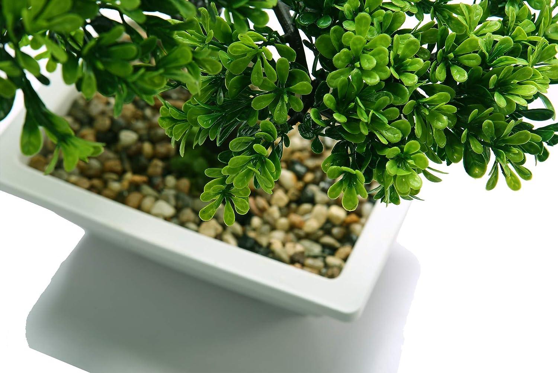 40cm d/éco salon vert,Chrome Bonsa/ï artificiel pour la d/écoration de la maison
