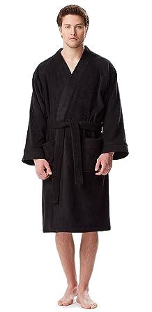 terry cloth bathrobe. Arus Men\u0027s Short Kimono Bathrobe Turkish Cotton Terry Cloth Robe Black O
