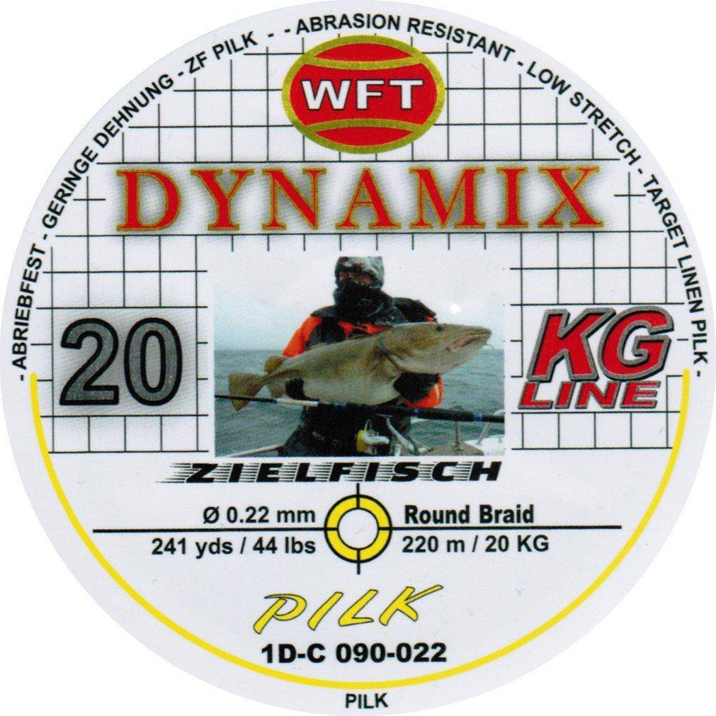 Angelschnur f/ür Norwegen WFT Round Dynamix Pilk Yellow 220m Geflochtene Schnur Zum Meeresangeln