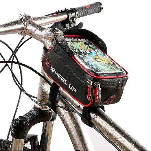 Bolso de bicicleta , bicicleta marco bolsa ciclismo Pannier tubo ...