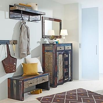 Porte Manteau Set Pendjab D Acacia 5 Pieces Couloir Couloir Look Use