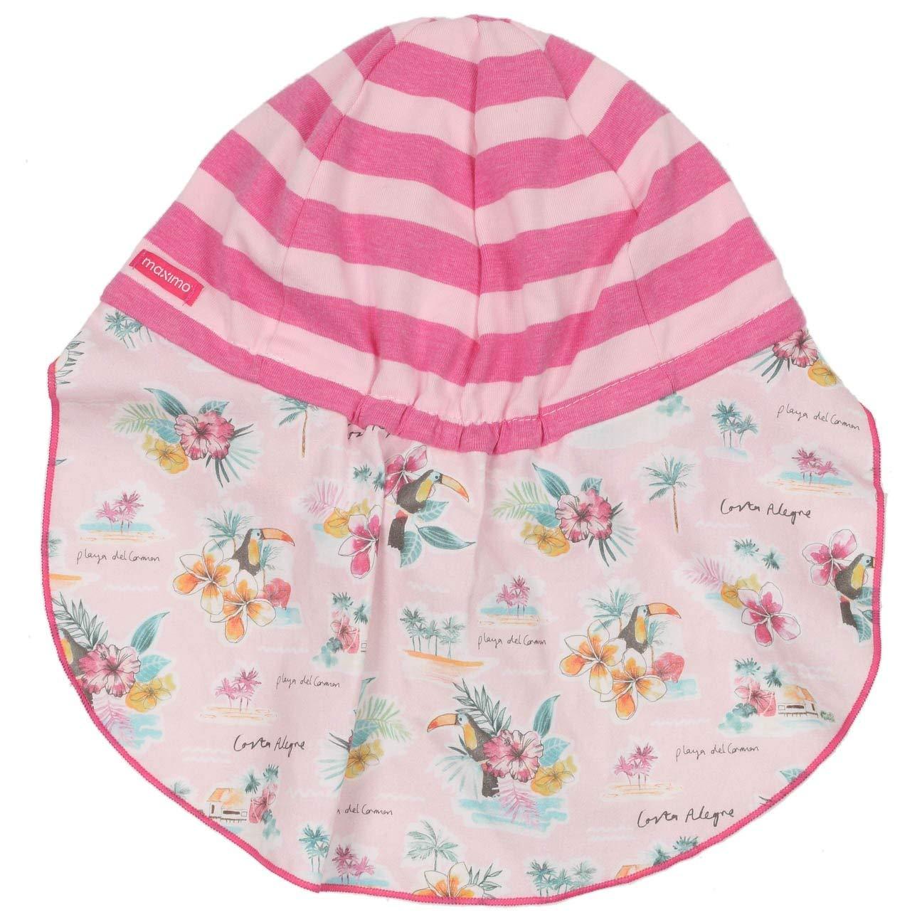 aefbf87dcb4 maximo Stripes and Flowers Kids Hat Girls´ Beanie Summer  Amazon.co.uk   Clothing
