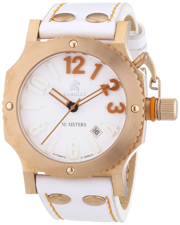 Carucci Watches Herren-Armbanduhr XL Analog Automatik Leder CA2210RG