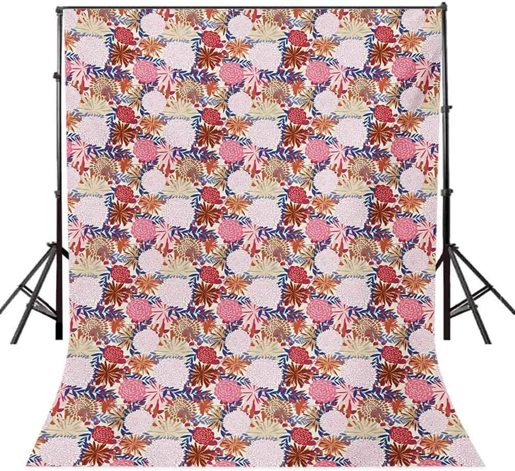 Garden Art 10x12 FT Backdrop Photographers,Colorful Blooming Floral Arrangement Spring Season Inspirations Abstract Design Background for Party Home Decor Outdoorsy Theme Vinyl Shoot Props Multicolor