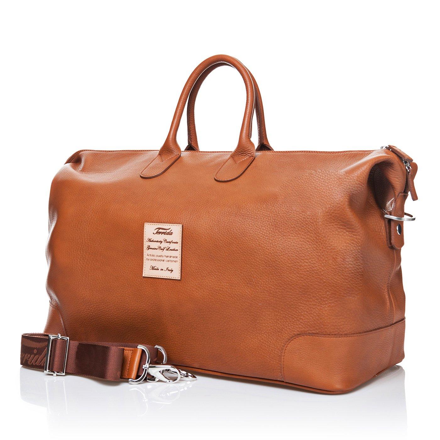 d1297a6e6ea Terrida Marco Polo duffle bag - LE038 (Cuoio): Amazon.ca: Luggage & Bags