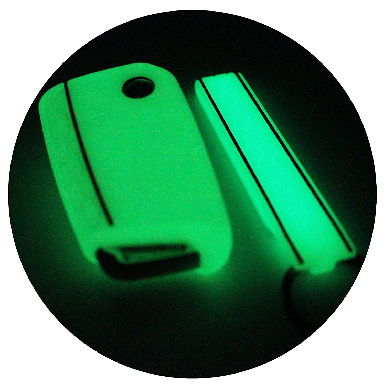 Funda de silicona para llaves de coche Aschgrau Schwarz llavero de Finest-Folia con tres botones