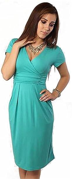 Symlia verano señoras color caramelo V-cuello para las mujeres embarazadas estiramiento del embarazo marcas