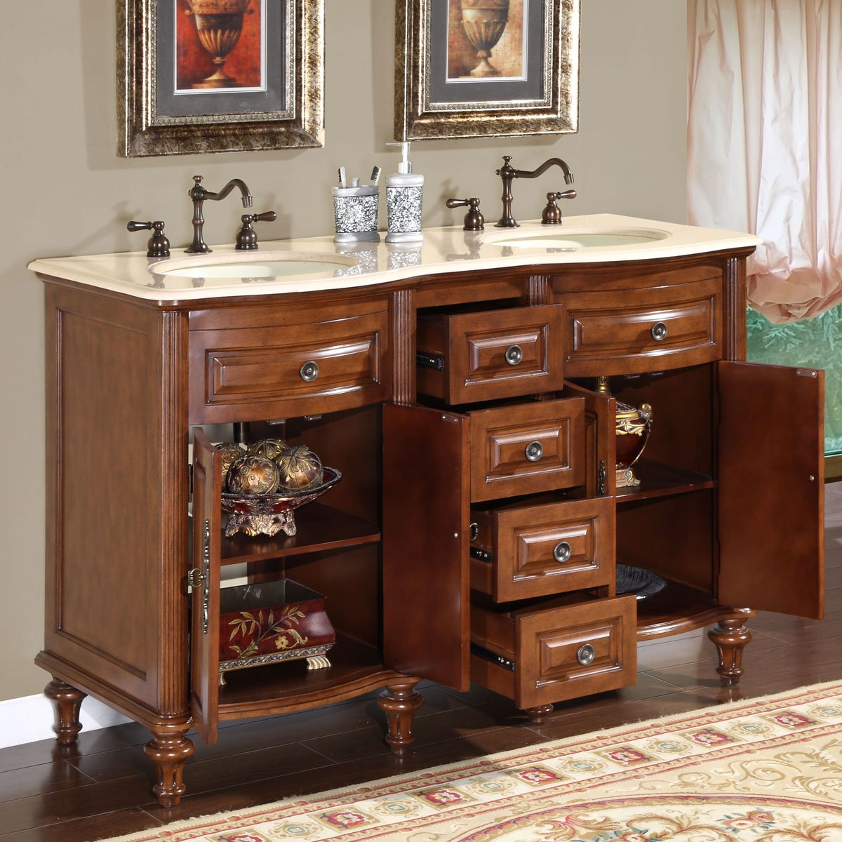 Double Sink Vanities. Beautiful Modern Bathroom Double Sinks ...