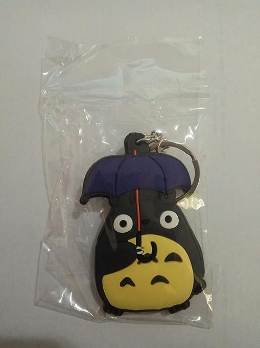 WoloShop Llavero de goma Totoro Paraguas Mi vecino Totoro ...