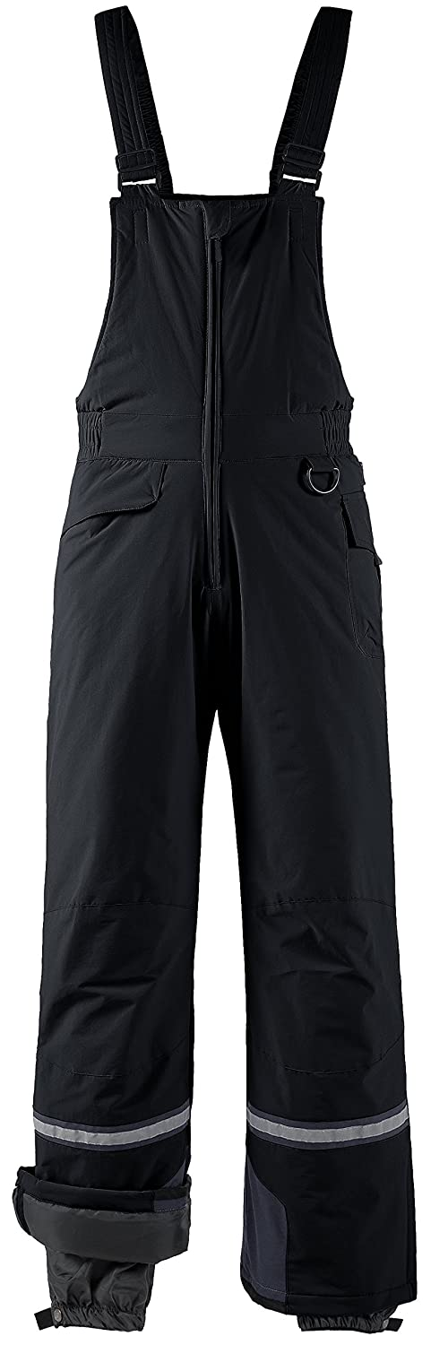 Wantdo Men's Waterproof Padding Insulated Snow Pants Ski Bib Pant