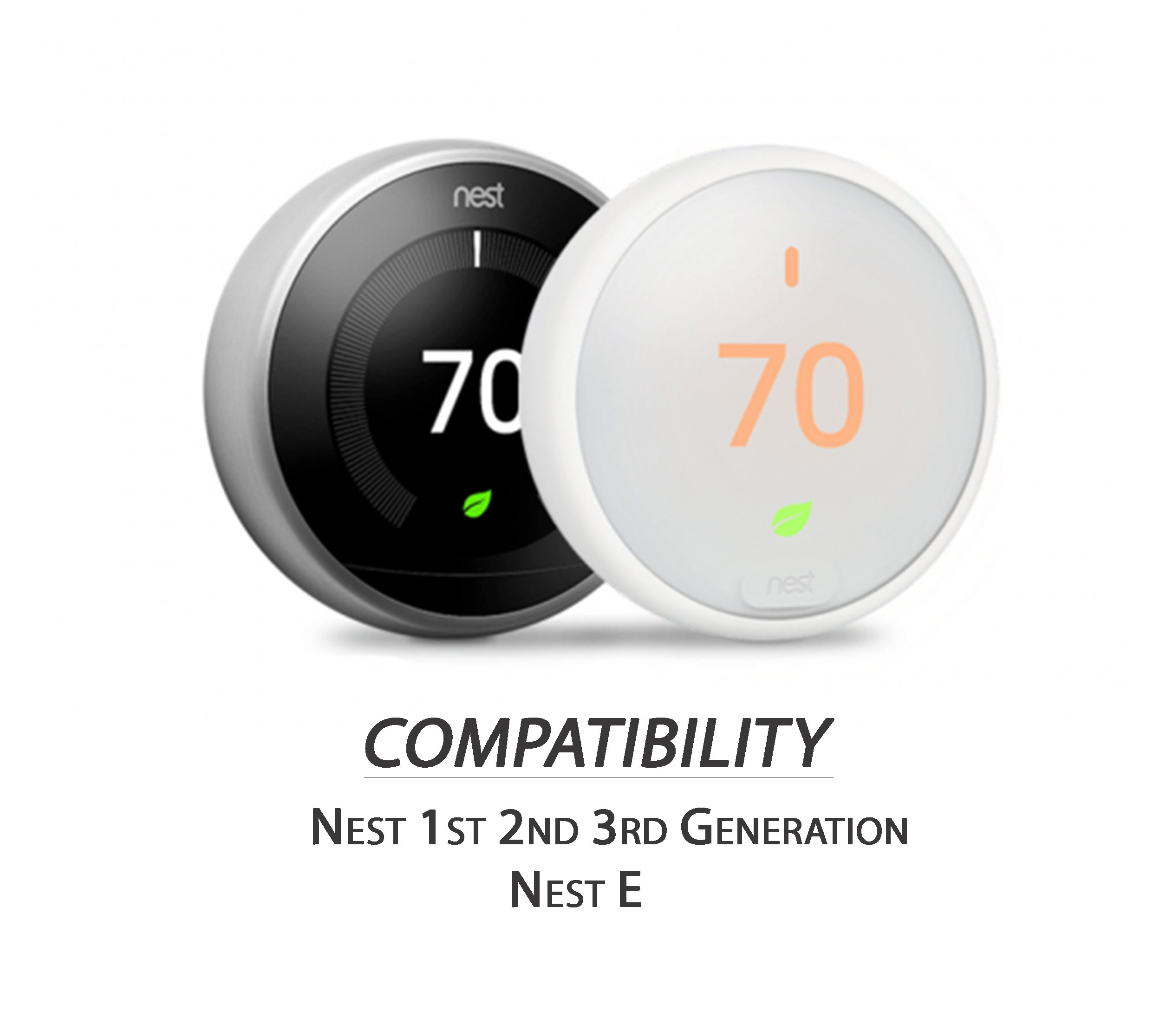 Nest Thermostat Wall Plate Cover (Solid Bamboo - Square - Glossy Finish) for Nest Learning 1st 2nd 3rd Generation and E by IE Works (Image #3)