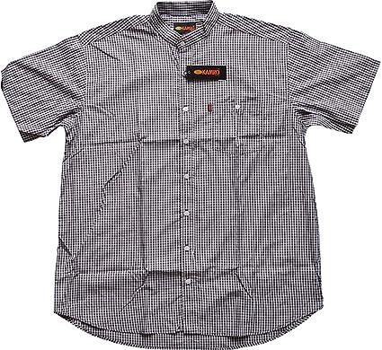 077e53fa1fac KAMRO Sale ! Übergrößen ! Kurzarm Hemd Schwarz Weiß kariert mit Stehkragen  2XL - 12XL  Amazon.de  Bekleidung