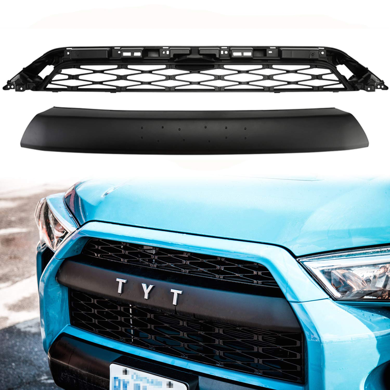 2 Parts Replacements Front Grille for Toyota 4Runner 2014-2019 SR5 Trail TRD PRO