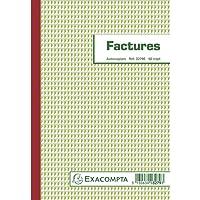 Exacompta 3279E Manifold Factures avec Mention TVA 21 cm x 14,8cm 50 Feuillets Tripli Autocopiants