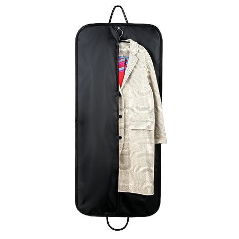 Fundas Ropa, CMXING Funda para traje , cubre traje con asas para viajar, negro Bolsas Ropa Cubierta de Ropa con Cremallera Organizador Ropa Almacenaje ...