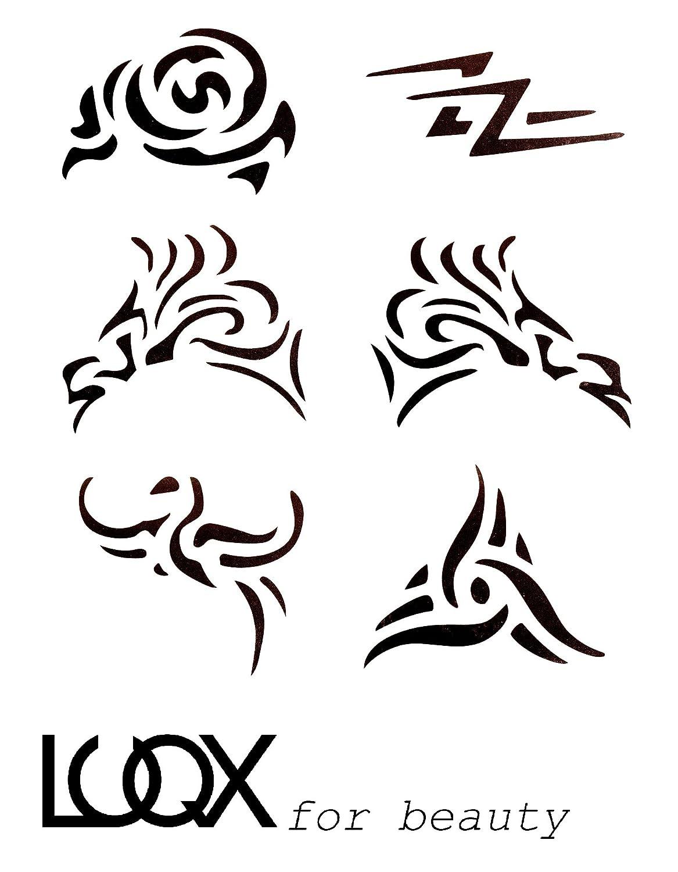 LUQX Tribal Schablone Hair Tattoo (2): Amazon.de: Beauty