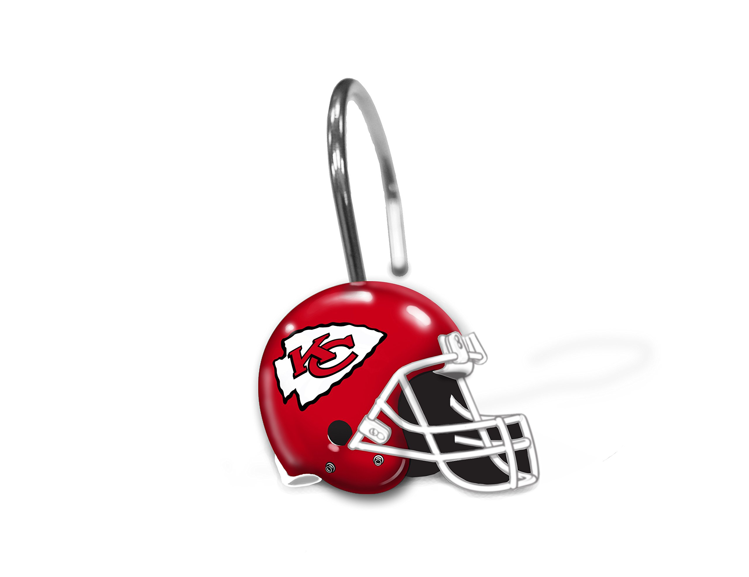 NFL Helmet Shower Curtain Rings NFL Team: Kansas City Chiefs