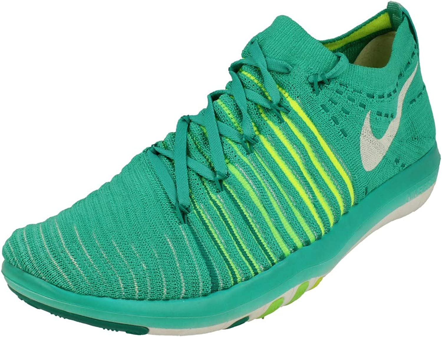 Nike Free Transform Flyknit Womens Running Trainers 833410 Sneakers Shoes US 6.5, Clear Jade White Voltage Green 301