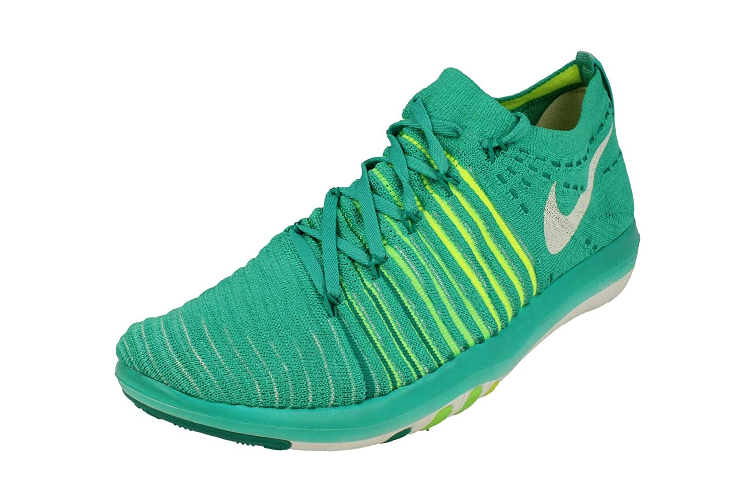 8ec6c54ffab7c Nike Free Transform Flyknit Womens Running Trainers 833410 Sneakers Shoes  (US 6.5, Clear Jade White Voltage Green 301)