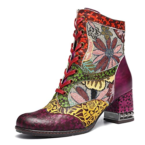 93c9d25c365 gracosy Women s Ankle Boots Winter Outdoor Snow Boots Shoes Lady Low Chunky  Block Heels Round Toe Ankle Boots Lace Up Zipper Walking Wedding Party Boot  2018 ...