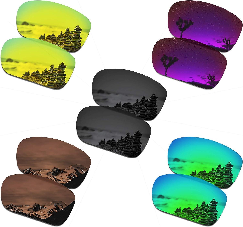 SmartVLT Set of 5 Men's Replacement Lenses for Oakley TwoFace Sunglass Combo Pack S03