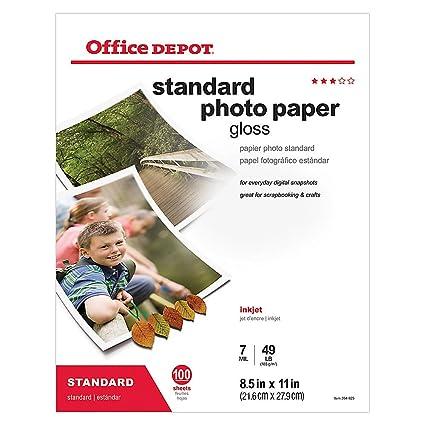 Amazon com : Office Depot Standard Photo Paper, Glossy, 8 1