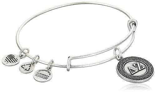 "Alex and Ani ""Sorority"" Delta Zeta Expandable Rafaelian Wire Bangle Bracelet"