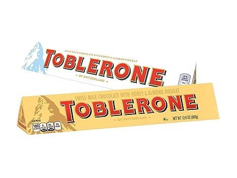 Toblerone 2 Pack 360g Each Milk Chocolate White Chocolate