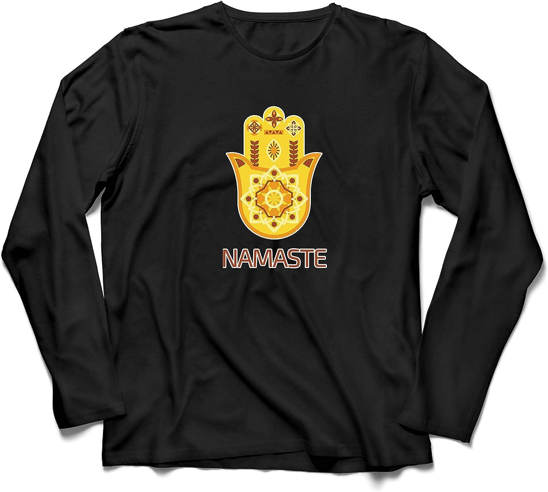 lepni.me Men/'s T-Shirt Namaste Hmasa Hand Spiritual Amulet Meditation Yoga Lovers