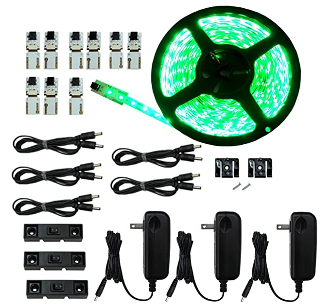 Amazon.com : Inspired LED - Light Strip - Cut and Connect Kit - Super Bright GREEN - 39.5 ft / 12M - Strip Lighting LED - Dimmable led : Garden & Outdoor