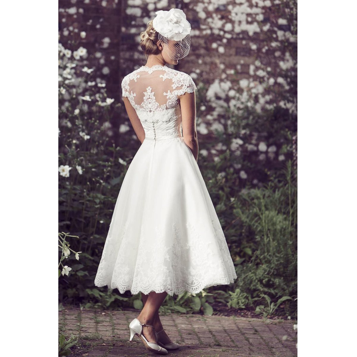 Cap Sleeves A line Bridal Gown