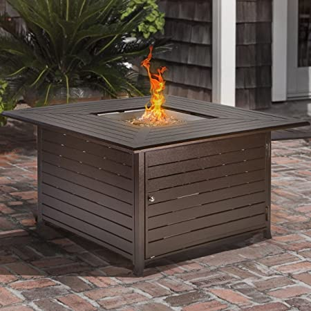Amazon Com Barton Outdoor Firepit Square Fire Table Fire Pit